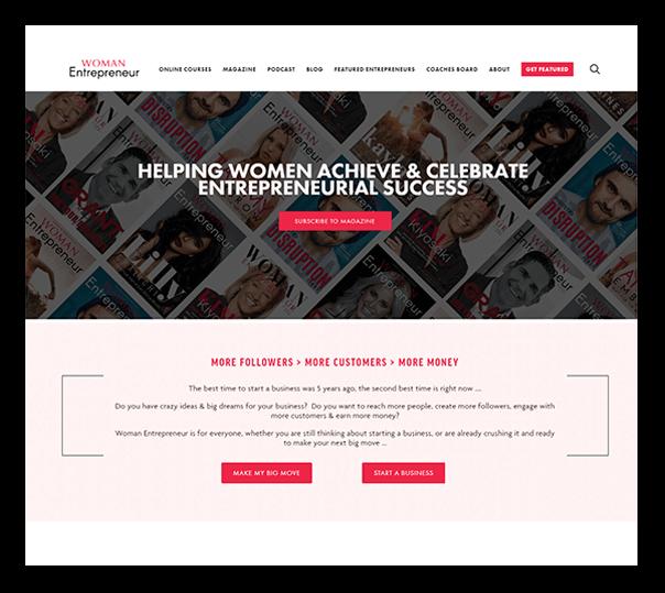 Women Entrepreneur Website