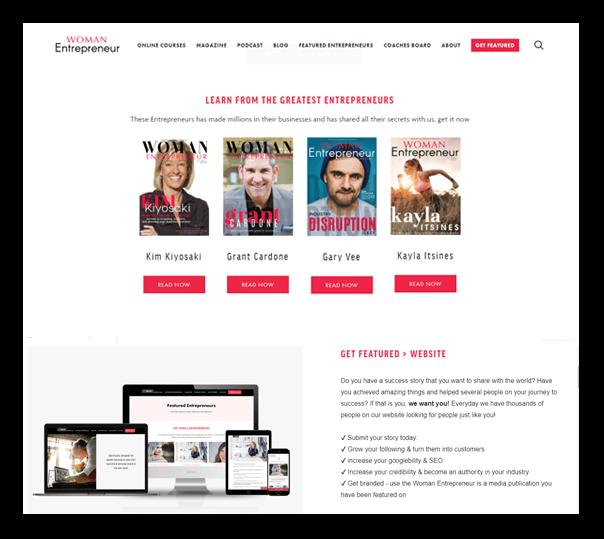 Women Entrepreneur Website - 1