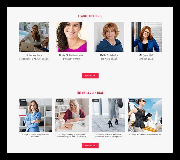 Women Entrepreneur Website - 3