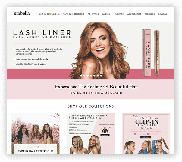 Erabella Client Website - 1
