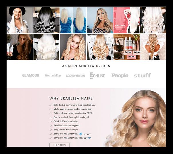 Erabella Client Website - 2