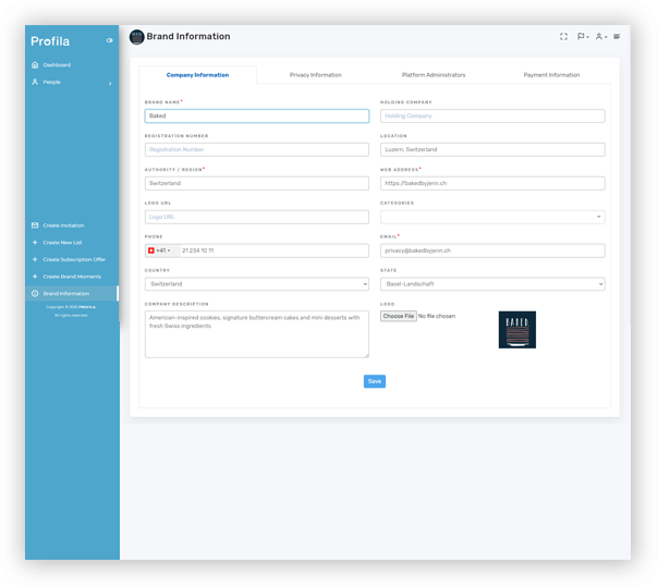 Profila - Client Portfolio - 2