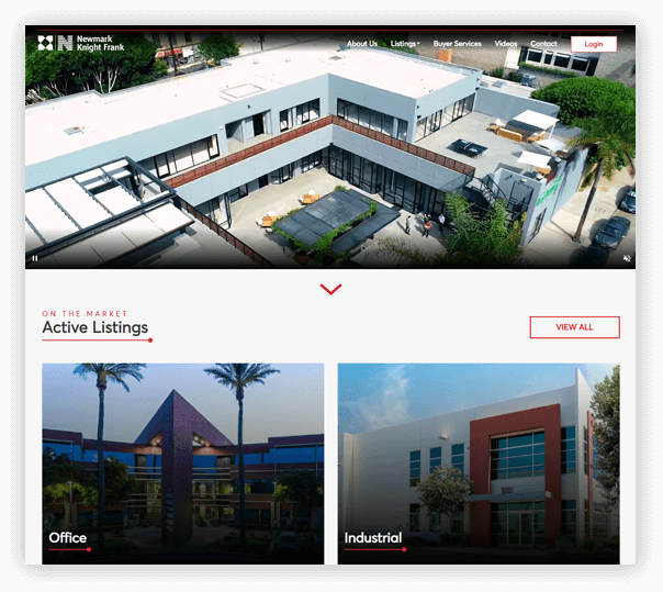 Newmark Knight Frank - Client Website - 1