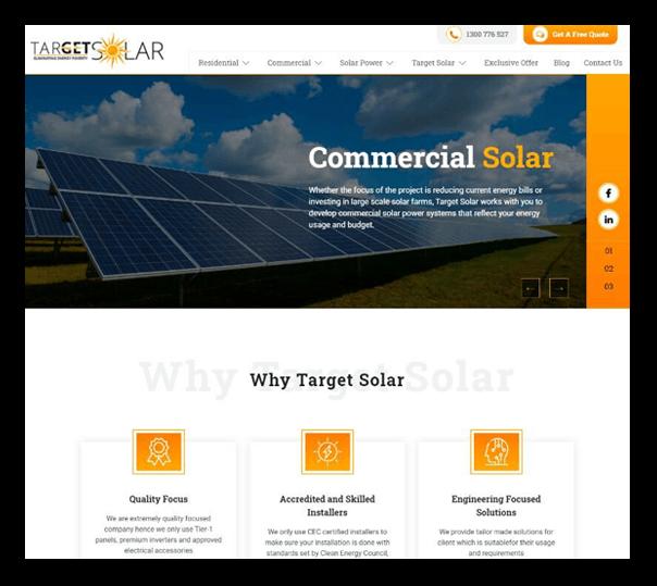 Target Solar - Client Website - 1