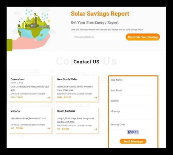 Target Solar - Client Website - 2
