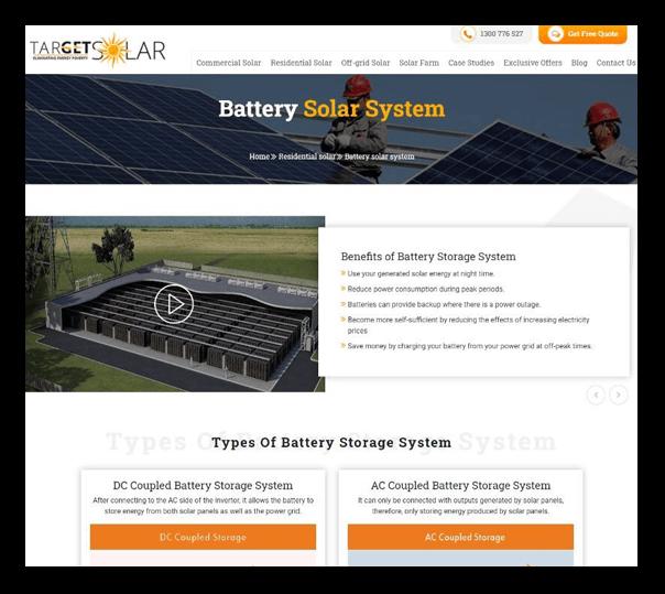 Target Solar - Client Website - 3