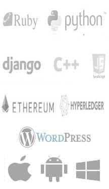 website development technologies logos