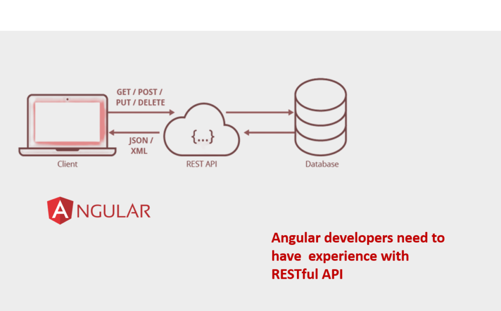 Angular team need to have experience with RESTAful API