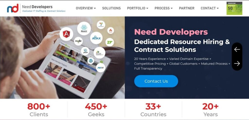 Need Developers Home Page