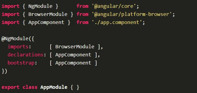 Name and Explain Angular's Building Blocks
