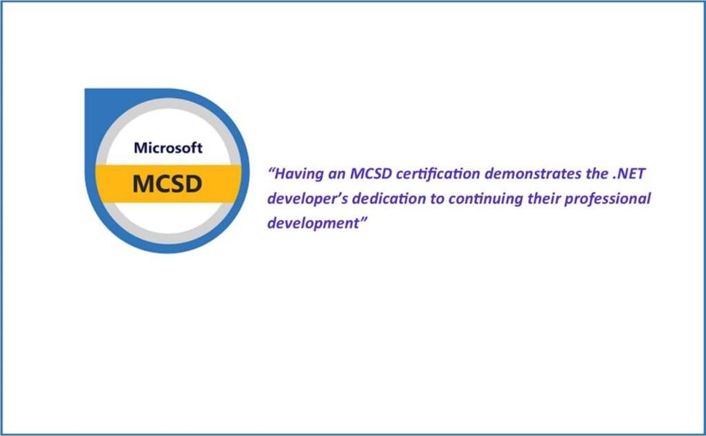 Microsoft Certified Solutions Developer (MCSD)