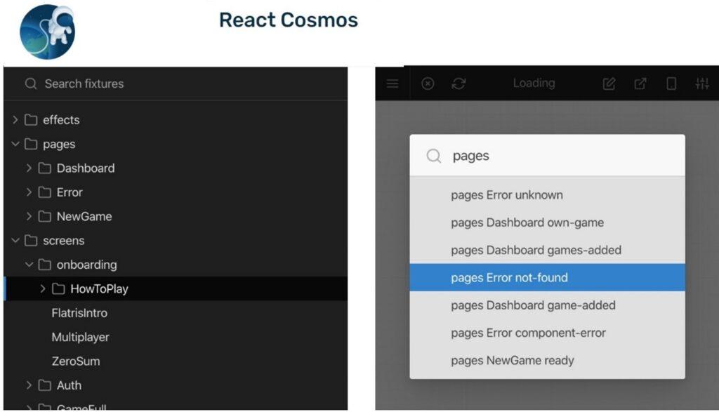 React Cosmos